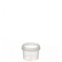 120ml Tamper Evident Clear Cont & Lid set [12067]